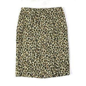 J.Crew Pencil Skirt Size 2 Animal Print